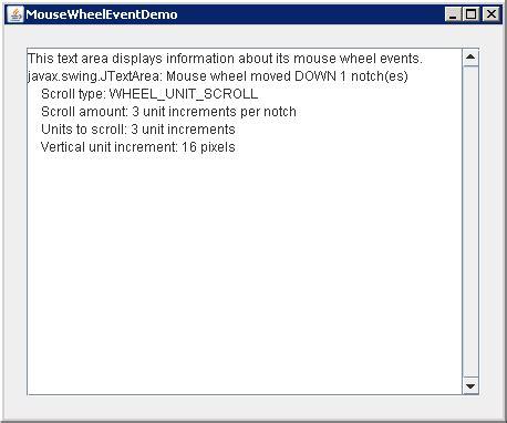 event handling in java swing exles mousewheellistener 171 swing event 171 java tutorial