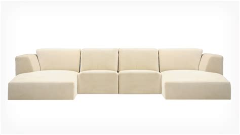 Fabric Sectional Sofa With Chaise Eq3 Morten 4 Sectional Sofa With Chaise Fabric