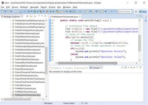 tutorial java file java file renameto method exle