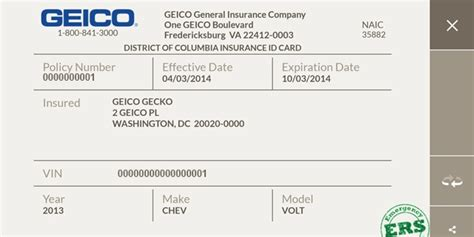proof of auto insurance template free insurance card template business template