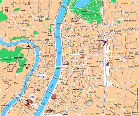 carte de lyon images  plan arts  voyages