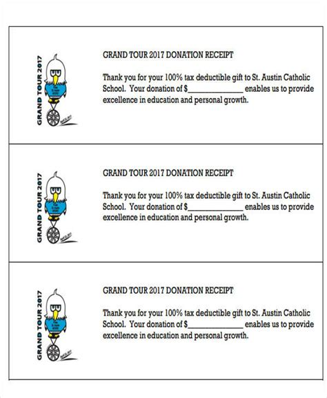 tax deductible receipt template 7 tax receipts for donation sle templates