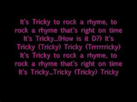 lyrics tricky it s tricky run d m c with lyrics