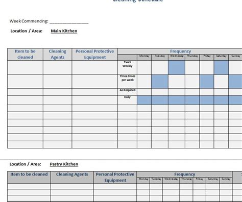 business schedule template easy business cleaning schedule my excel templates