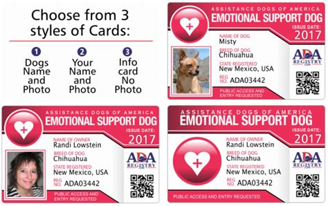 Service Dog Id Card Gallery Service Dog Registry Emotional Support Animal Id Card Template