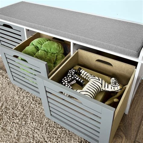 shoe storage bench with cushion sobuy 174 storage bench with 3 drawers shoe cabinet with