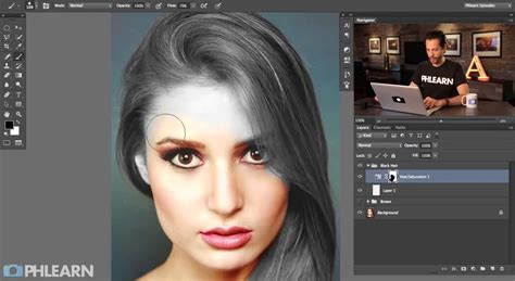 changing color in photoshop changing hair color in photoshop