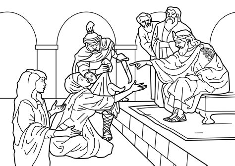 king solomon bible page to color 019 free solomon and the temple coloring pages