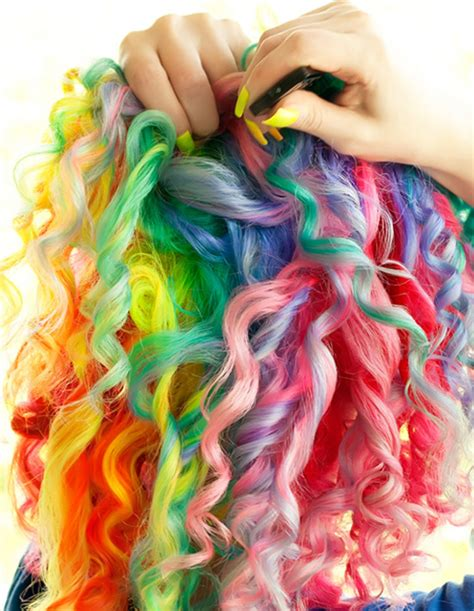 bright hair color for curly hair 10 rainbow pastel hair colors styles for christmas day