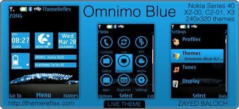 themes nokia c2 don omnimo blue theme for nokia x2 00 c2 01 240 215 320