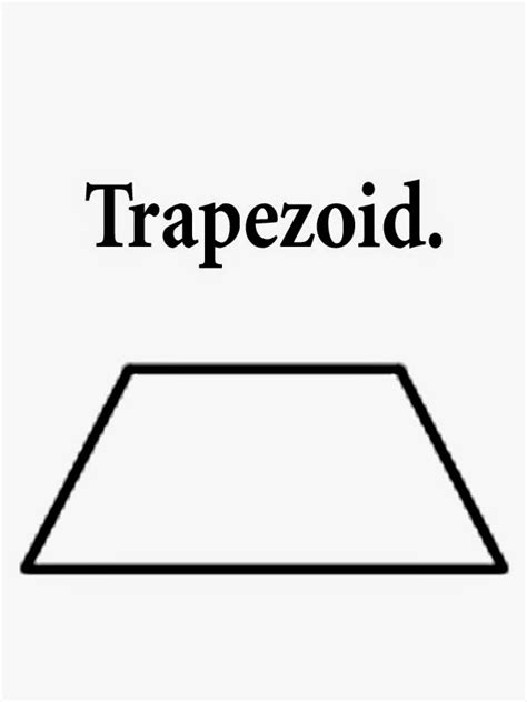 printable shapes trapezoid trapezoid shape coloring page coloring pages
