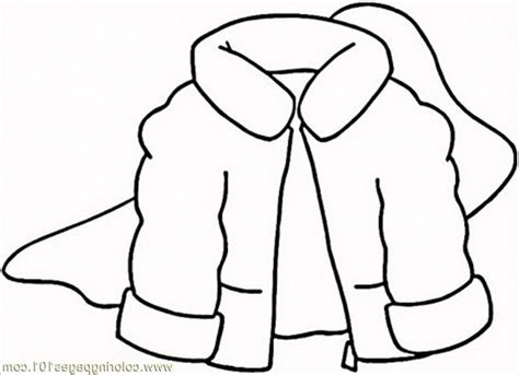 coloring pages winter coat clothing free printable page