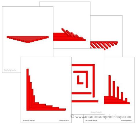Pattern Extension Activities | printable pattern cards for the montessori red rods