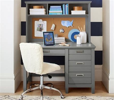 kids desk and hutch decorator single shelf pottery barn kids kid and gray desk