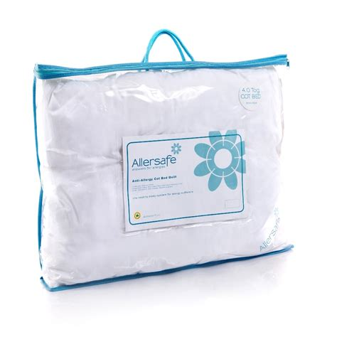 allergy bedding allersafe premium 4 0 tog anti allergy cot bed duvet from allersafe