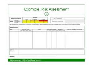 Food Defense Risk Assessment Template by Food Safety Risk Assessment Form Pictures To Pin On
