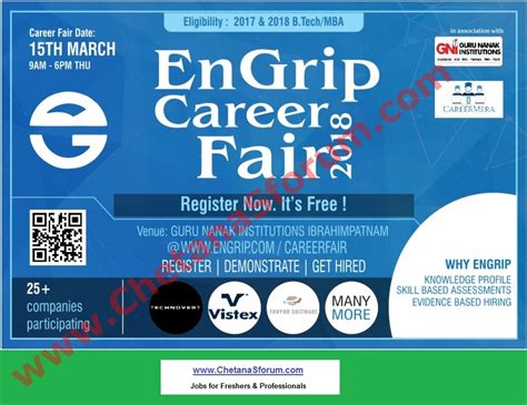 Mba Qualification In Ap by Freshers Mega Fair Cus Be Btech Mba