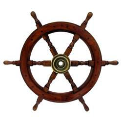 Steering Wheel For Ship Antique Wooden Maritime Decor 24 Quot Captains Shipwheel Ships