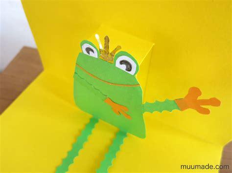 frog pop up card template an easy pop up card template muumade