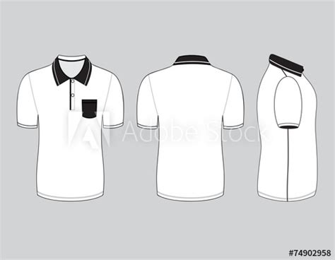 Kaos Huruf N Buy Side polo shirt design templates front back and side views