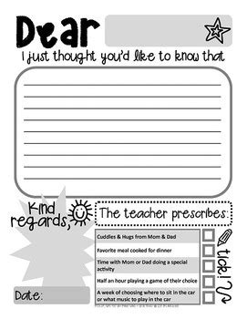 note home to parents template positive note home template prescription