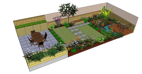 landscape layout sketchup richmond garden design drawn using sketchup by fork garden