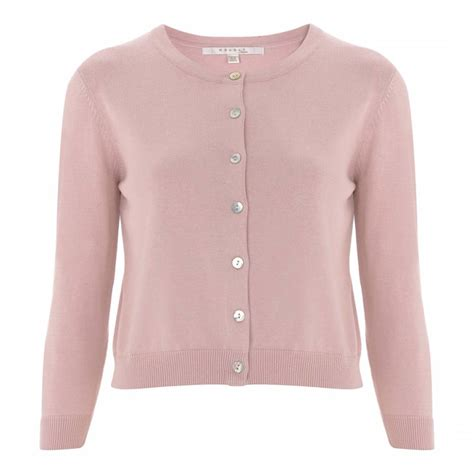 nude pink tansy cropped cardigan brandalley