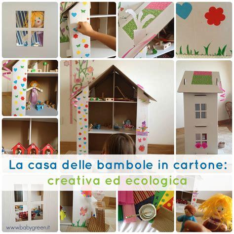 casa delle la casa delle bambole di cartone creativa ed ecologica