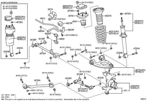 lexus ls400 parts diagram on catalog lexus is300 parts