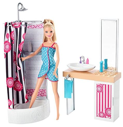 barbie bathroom furniture barbie doll and bathroom furniture set ebay