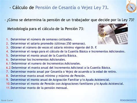 calculo de la pension imss presentacion pensiones imss issste