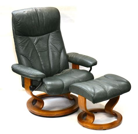 stressless armchairs tennants auctioneers an ekornes green leather stressless