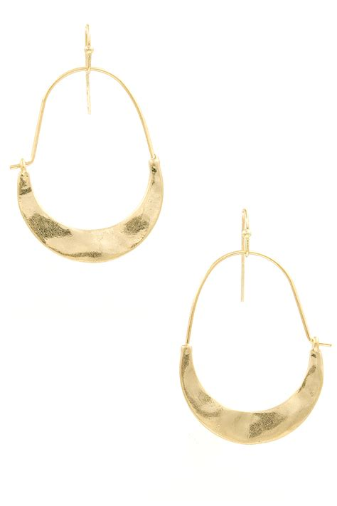 Metal Drop Hook Earrings hooked metal crescent drop earrings