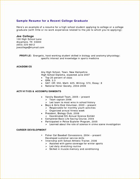 resume format for highschool students with no experience 8 resume sle for high school students with no experience free sles exles format