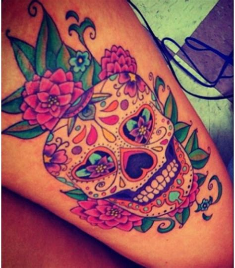 watercolor sugar skull tattoo best 25 sugar skull tattoos ideas on arm