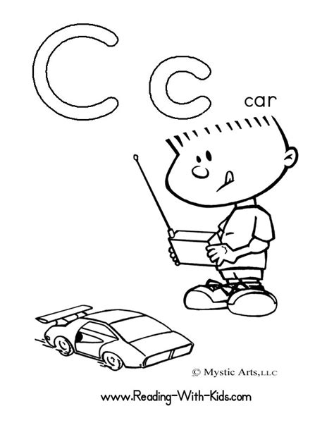 Free Coloring Pages Of Alphabet C Letter Coloring Pages