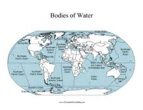 south america bodies of water map this printable world map labels all of the major bodies of