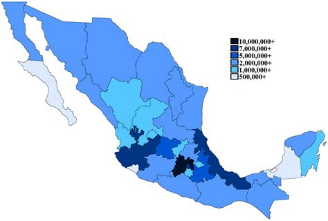 esinciclopedia de poblacion de mexico file mexican states by population 2012 png wikimedia commons