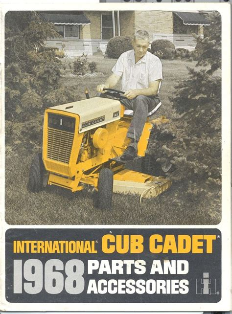 Free International Email Lookup Vintage 1968 International Cub Cadet Parts Accessories L G Tractor Catalog Ebay