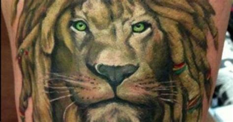lion with dreads tattoo great leo that the represents