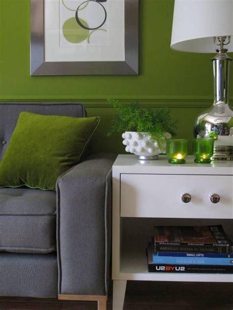 retro mid century modern green grey living room