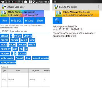 sqlite apk sqlite manager apk version 1 3 6 xuecs sqlitemanager