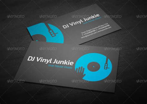 dj business card template 32 dj business card templates free