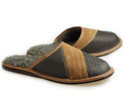 Mens Handmade Moccasins - mens leather slippers 100 wool slippers moccasins