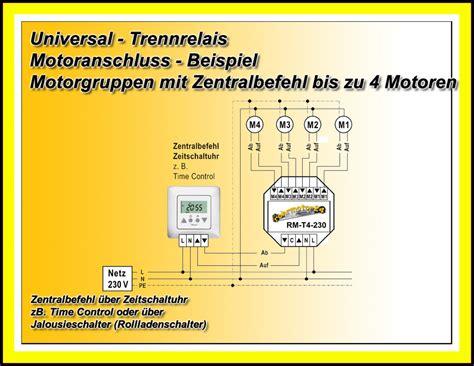 jalousie trennrelais schaltplan trennrelais steuerrelais up relais 4 motore rolladenmotor