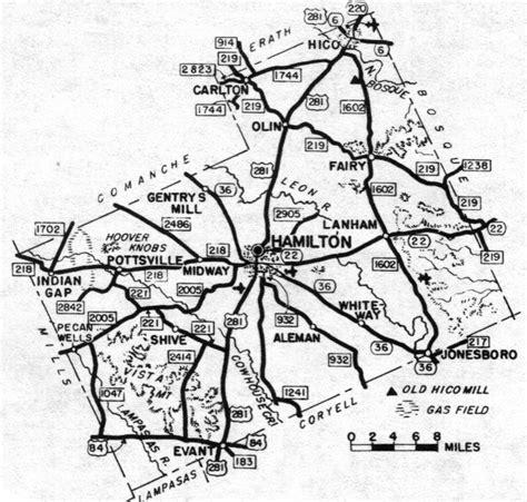 hamilton texas map hamilton county texas maps and gazetteers