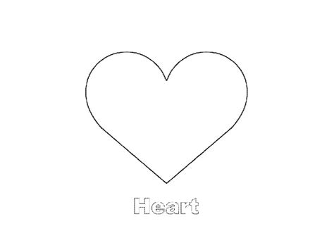 free coloring pages of shape heart