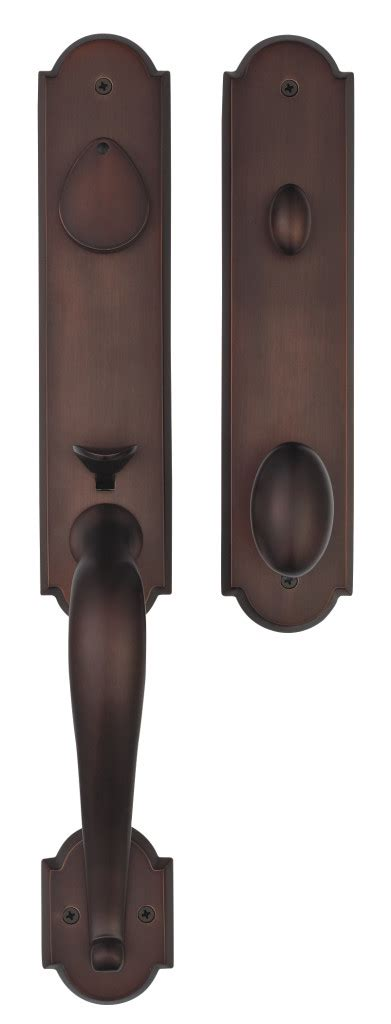 premium san francisco solid brass entry door handle set