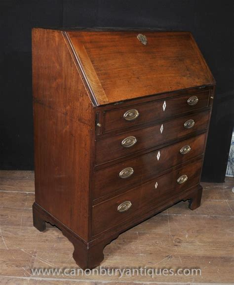 Antique Mahogany Desk by Antique Mahogany Georgian Bureau Desk Chest Drawers Furniture