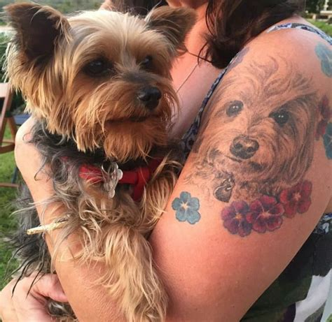 yorkie tattoo pictures someone s tattoo of a yorkie yorkies pinterest